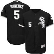Wholesale Cheap White Sox #5 Yolmer Sanchez Black Flexbase Authentic Collection Stitched MLB Jersey