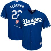 Wholesale Cheap Dodgers #22 Clayton Kershaw Royal 2019 Spring Training Cool Base Stitched MLB Jersey