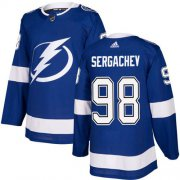 Wholesale Cheap Adidas Lightning #98 Mikhail Sergachev Blue Home Authentic Stitched Youth NHL Jersey