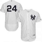 Wholesale Cheap Yankees #24 Gary Sanchez White Strip Flexbase Authentic Collection Stitched MLB Jersey