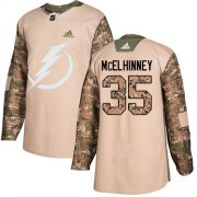 Cheap Adidas Lightning #35 Curtis McElhinney Camo Authentic 2017 Veterans Day Youth Stitched NHL Jersey