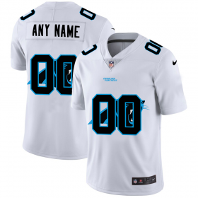 Wholesale Cheap Carolina Panthers Custom White Men\'s Nike Team Logo Dual Overlap Limited NFL Jersey