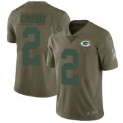 Wholesale Cheap Nike Packers #2 Mason Crosby Olive Men's Stitched NFL Limited 2017 Salute To Service Jersey