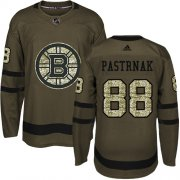 Wholesale Cheap Adidas Bruins #88 David Pastrnak Green Salute to Service Youth Stitched NHL Jersey