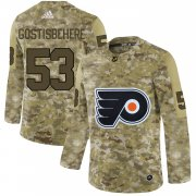 Wholesale Cheap Adidas Flyers #53 Shayne Gostisbehere Camo Authentic Stitched NHL Jersey
