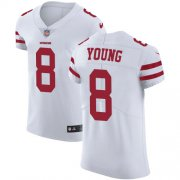 Wholesale Cheap Nike 49ers #8 Steve Young White Men's Stitched NFL Vapor Untouchable Elite Jersey
