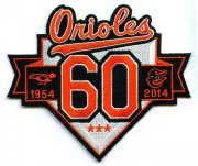 Wholesale Cheap Stitched MLB 2014 Baltimore Orioles 60th Anniversary Season Jersey Sleeve Patch (1954)