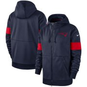 Wholesale Cheap New England Patriots Nike Sideline Performance Full-Zip Hoodie Navy
