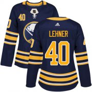Wholesale Cheap Adidas Sabres #40 Robin Lehner Navy Blue Home Authentic Women's Stitched NHL Jersey