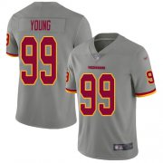 Wholesale Cheap Nike Redskins #99 Chase Young Gray Youth Stitched NFL Limited Inverted Legend Jersey