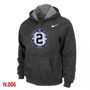 Wholesale Cheap Nike New York Yankees #2 Derek Jeter Official Final Season Commemorative Logo Pullover Hoodie Dark Grey