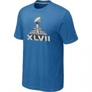 Wholesale Cheap NFL Super Bowl XLVII Logo T-Shirt Light Blue