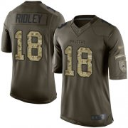 Wholesale Cheap Nike Falcons #18 Calvin Ridley Green Men's Stitched NFL Limited 2015 Salute to Service Jersey