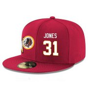Wholesale Cheap Washington Redskins #31 Matt Jones Snapback Cap NFL Player Red with White Number Stitched Hat