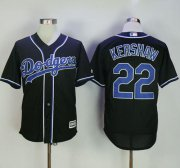 Wholesale Cheap Dodgers #22 Clayton Kershaw Black Fashion Stitched MLB Jersey