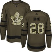 Wholesale Cheap Adidas Maple Leafs #28 Tie Domi Green Salute to Service Stitched NHL Jersey