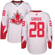 Wholesale Cheap Team Canada #28 Claude Giroux White 2016 World Cup Stitched Youth NHL Jersey