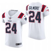 Cheap New England Patriots #24 Stephon Gilmore Nike Men's White Team Color Men's Stitched NFL 2020 Vapor Untouchable Elite Jersey