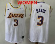 Wholesale Cheap Women's Los Angeles Lakers #3 Anthony Davis 2019 White Nike Swingman Wish Stitched NBA Jersey