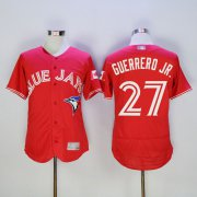 Wholesale Cheap Blue Jays #27 Vladimir Guerrero Jr. Red New Cool Base Canada Day Stitched MLB Jersey
