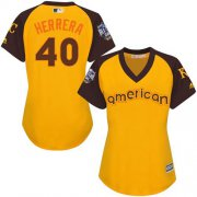 Wholesale Cheap Royals #40 Kelvin Herrera Gold 2016 All-Star American League Women's Stitched MLB Jersey