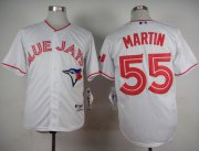 Wholesale Cheap Blue Jays #55 Russell Martin White 2015 Canada Day Stitched MLB Jersey