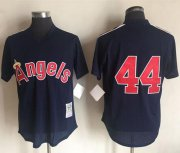 Wholesale Cheap Mitchell And Ness 1984 Angels of Anaheim #44 Reggie Jackson Navy Blue Throwback Stitched MLB Jersey
