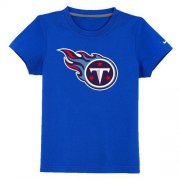 Wholesale Cheap Tennessee Titans Sideline Legend Authentic Logo Youth T-Shirt Blue