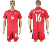 Wholesale Cheap Norway #16 Gulbrandsen Home Soccer Country Jersey