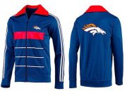 Wholesale Cheap NFL Denver Broncos Team Logo Jacket Blue_5