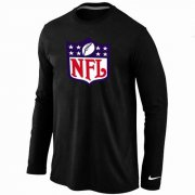 Wholesale Cheap Nike NFL Logos Long Sleeve T-Shirt Black