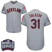Wholesale Cheap Indians #31 Danny Salazar Grey Flexbase Authentic Collection 2016 World Series Bound Stitched MLB Jersey