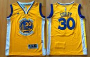 Cheap Youth Golden State Warriors #30 Stephen Curry Yellow Swingman adidas Baseketball Jersey