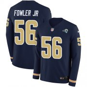 Wholesale Cheap Nike Rams #56 Dante Fowler Jr Navy Blue Team Color Men's Stitched NFL Limited Therma Long Sleeve Jersey