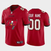 Wholesale Cheap Tampa Bay Buccaneers Custom Red Men's Nike Big Team Logo Vapor Limited NFL Jersey
