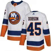 Wholesale Cheap Adidas Islanders #45 Noah Dobson White Road Authentic Stitched NHL Jersey