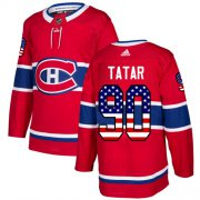 Wholesale Cheap Adidas Canadiens #90 Tomas Tatar Red Home Authentic USA Flag Stitched Youth NHL Jersey