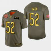 Wholesale Cheap Chicago Bears #52 Khalil Mack Men's Nike Olive Gold 2019 Salute to Service Limited NFL 100 Jersey