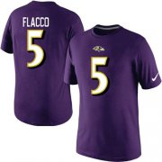Wholesale Nike Baltimore Ravens #5 Joe Flacco Pride Name & Number NFL T-Shirt Purple