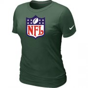 Wholesale Cheap Women's Nike NFL Logo NFL T-Shirt Dark Green