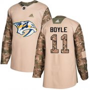Wholesale Cheap Adidas Predators #11 Brian Boyle Camo Authentic 2017 Veterans Day Stitched NHL Jersey