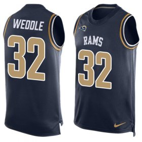 Wholesale Cheap Nike Rams #32 Eric Weddle Navy Blue Team Color Men\'s Stitched NFL Limited Tank Top Jersey