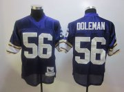 Wholesale Cheap Mitchell And Ness Vikings #56 Chris Doleman Purple Stitched Throwback NFL Jersey
