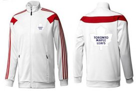 Wholesale NHL Toronto Maple Leafs Zip Jackets White-2