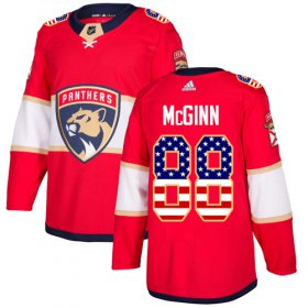 Wholesale Cheap Adidas Panthers #88 Jamie McGinn Red Home Authentic USA Flag Stitched NHL Jersey