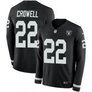 Wholesale Cheap Nike Raiders #22 Isaiah Crowell Black Team Color Men's Stitched NFL Limited Therma Long Sleeve Jersey