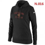 Wholesale Cheap Women's Nike Chicago Bears Heart & Soul Pullover Hoodie Black