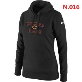 Wholesale Cheap Women\'s Nike Chicago Bears Heart & Soul Pullover Hoodie Black