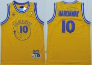 Wholesale Cheap Golden State Warriors #10 Tim Hardaway Yellow Swingman Throwback Jersey