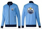 Wholesale NHL Edmonton Oilers Zip Jackets Light Blue